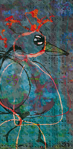 peinture numérique oiseaux migrateurs