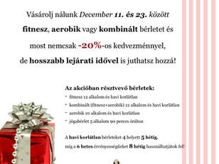 Karácsonyi bérlet akció