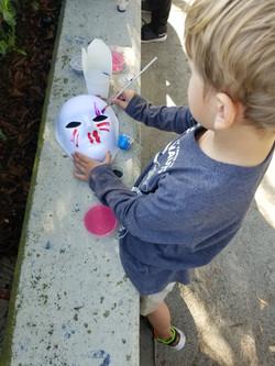 Mask Making at Arise & Shine Play Pod!