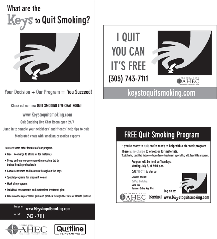 Keys to quit newspaper ads