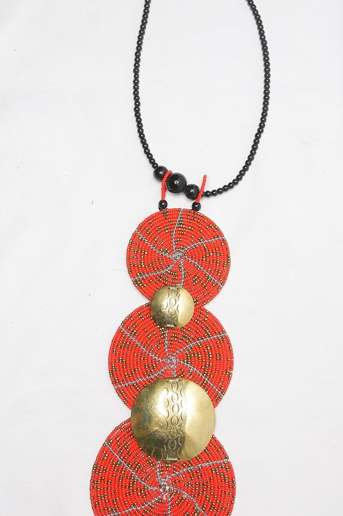 Empress Tribal Metal Necklace