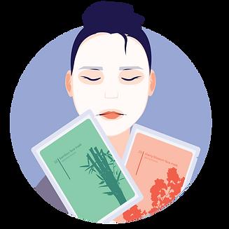 labels for face masks beauty