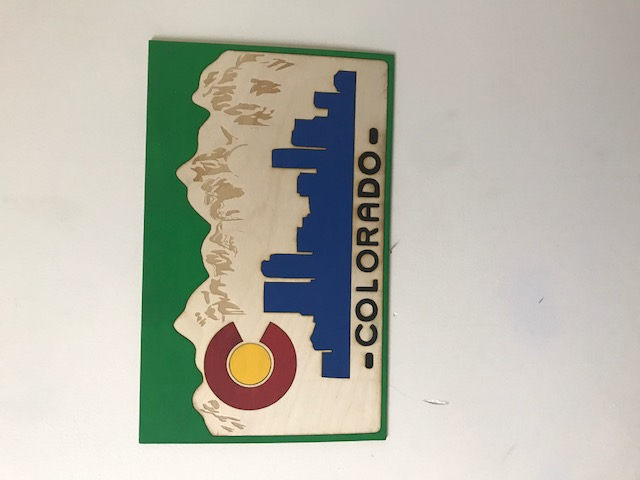 Co License Plate Wall Art