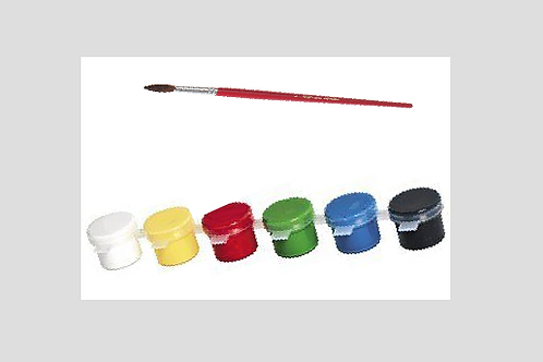 Pack Of 6 Paint & Brush - NO EXTRA SHIPPING