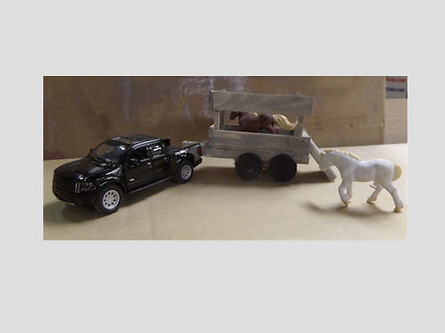 Horse With Trailer and Two Horses