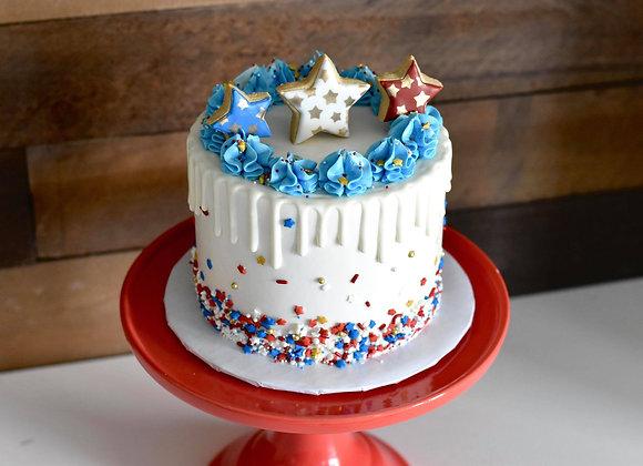 4th of July Cake RED VELVET FLAVOR