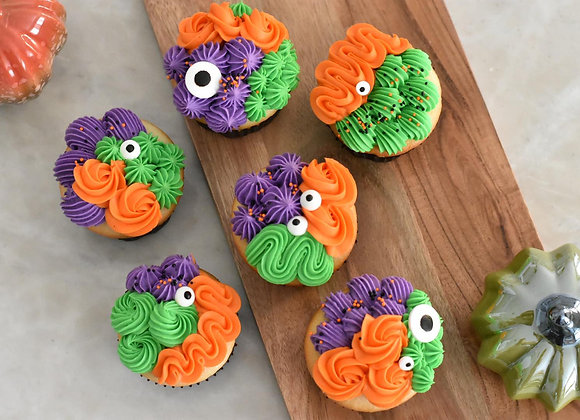 Half Dozen Monster Cupcakes