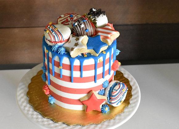 4th of July Cake CONFETTI FLAVOR