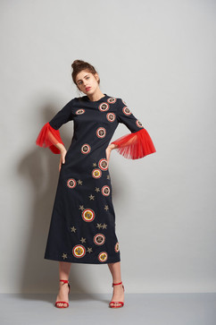 Star Badger Midi Dress