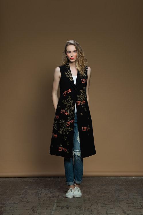 Coriander Love Sleeveless Long Jacket