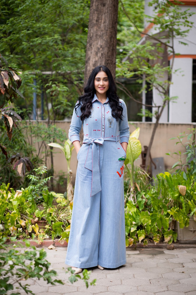 Actress Regina Cassandra In Shahin MannaN Airbaloons And Clouds Jumpsit With Belt For The Promotion