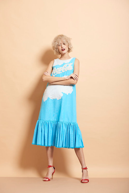 Cocacola And Clouds Long Frill Dress