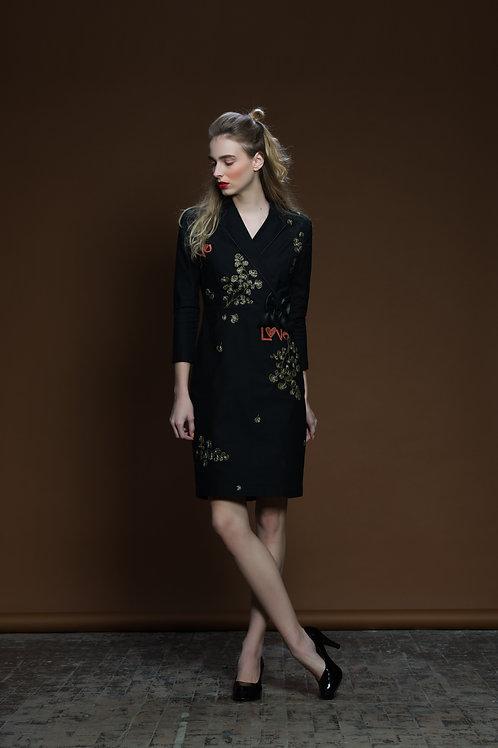 Coriander Love Bow Coat Dress