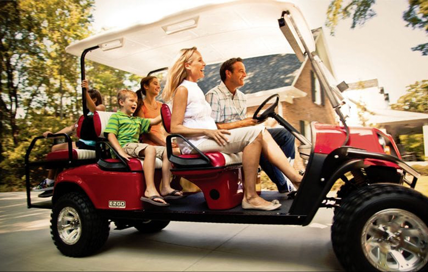 Enjoy a fun day out with the family, with the resort being a zero-carbon pollution only golf buggies are used on site.