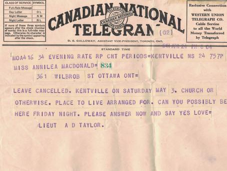 April 24, 1941 Change of Plans