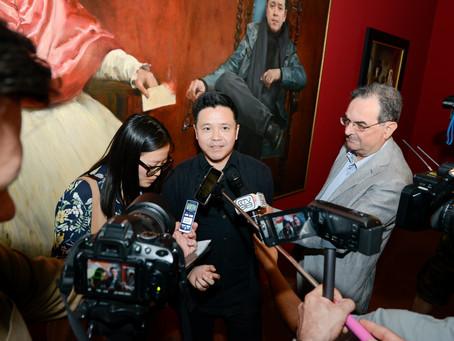 """""""历史的现实性""""庞茂琨作品展在美第奇宫圆满揭幕"""