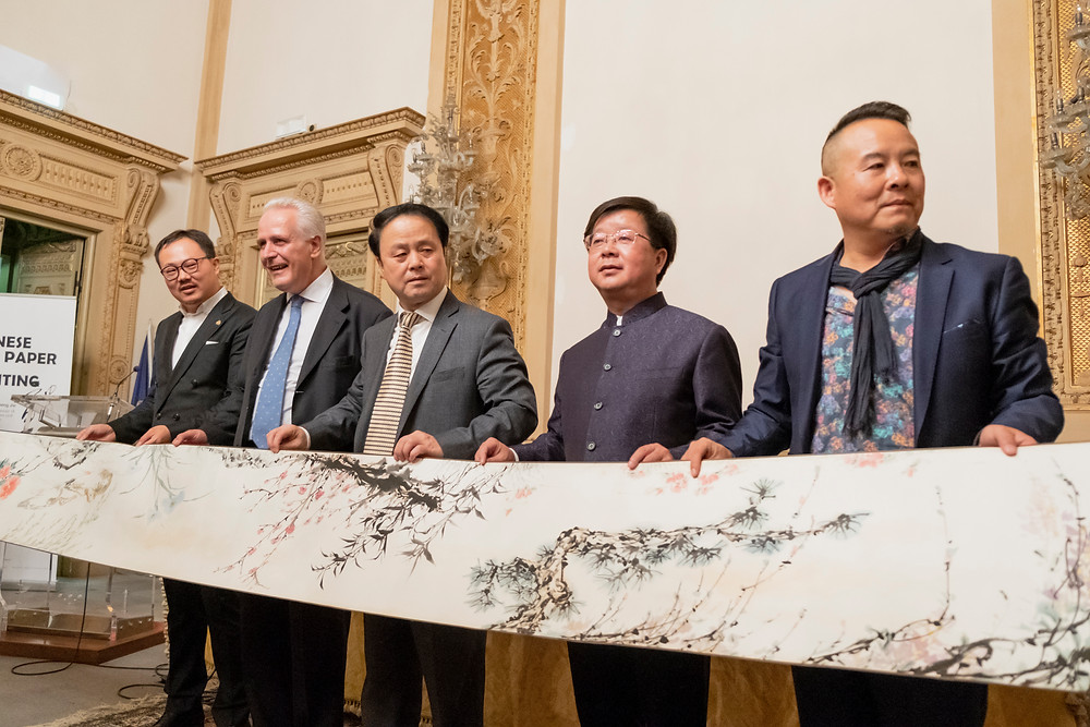 Eugenio Giani ,Wang FuGuo Gianni Zhang, ZAI, Zhong Art International  2018 Chinese Rice Paper and Painting a Firenze