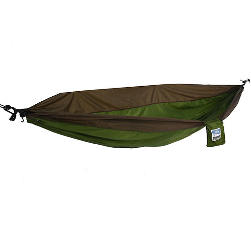 Army Green/Sand Brown 1 Person Travel Hammock