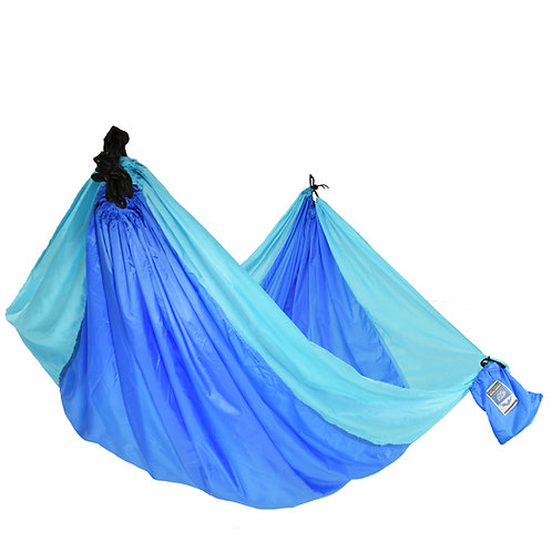 Blue Solid 2 Person Travel Hammock