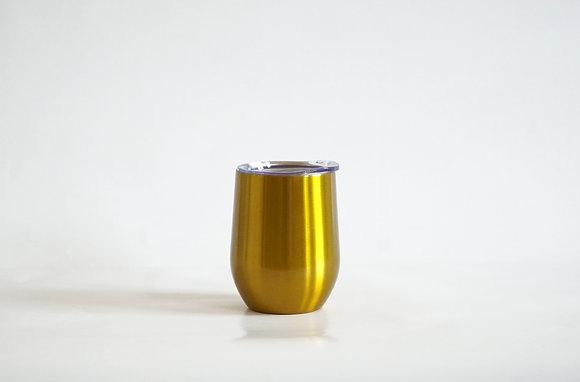 Edelstahl Weinbecher Gold
