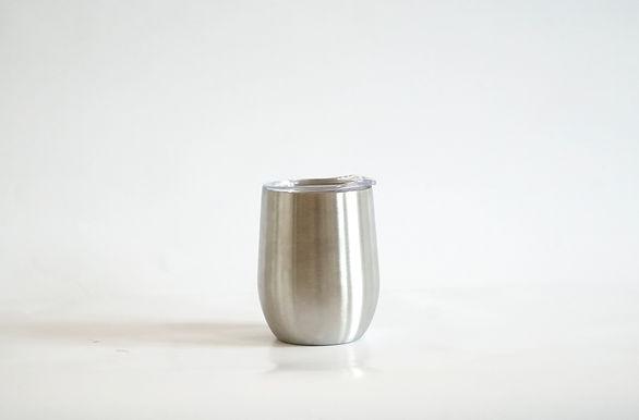 Edelstahl Weinbecher Silber Glänzend