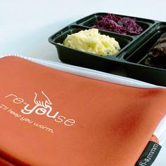 Lunchbag in Dunkelrosa