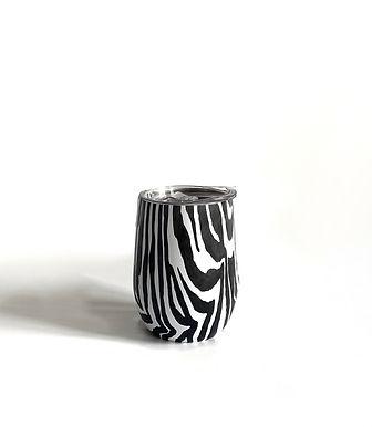 Edelstahl Weinbecher Zebra