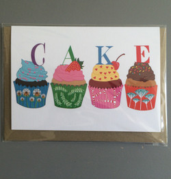 Cakes greetings cards