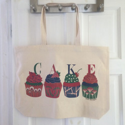 Large 100% branded cotton tote bag