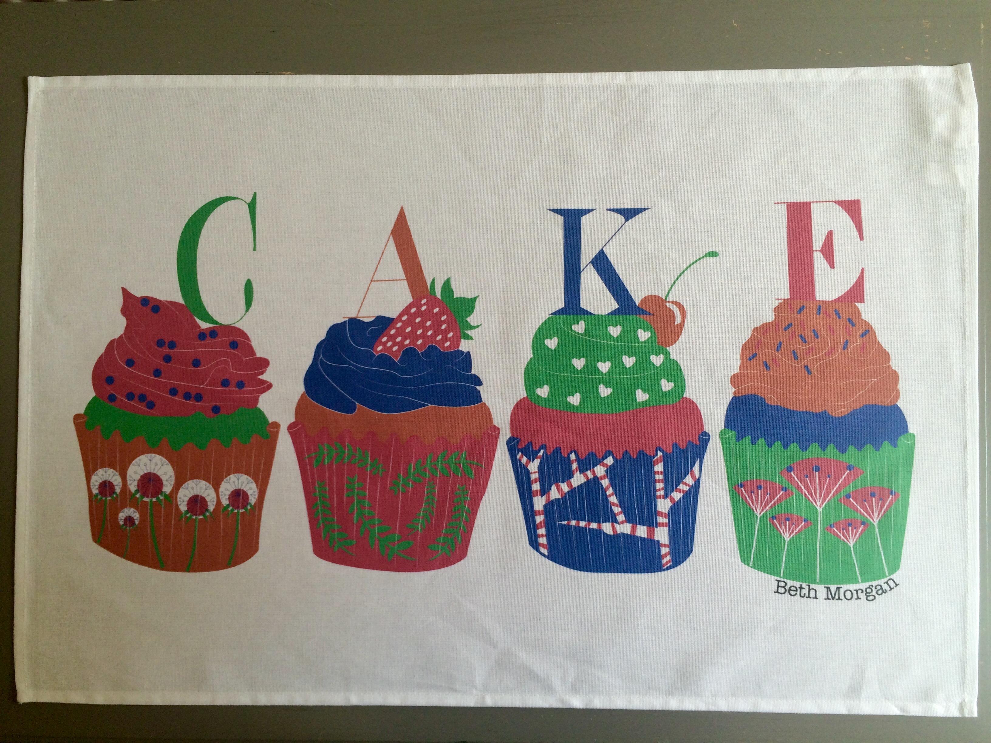 Cupcakes teatowel