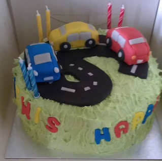 Kath made this fantastic car themed cake for a young boy in Sheffield. Vroom!.jpg