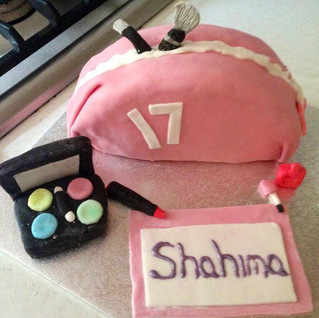 Volunteer Jaq made a beautiful make-up cake for a girly girl celebrating her birthday last week. Just perfect!.jpg