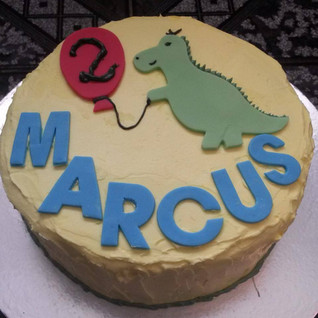 Volunteer Adele P made another beautiful cake for us this week - a fantastic dinosaur cake for a little boy. Adele's been very busy baking for us recently - this is her third cake in three weeks and we're so grateful!.jpg