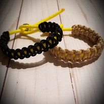 First Responder Set of 2 Paracord Netting Bracelets/Anklets