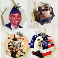 Custom Home for the Holidays Photo Snowflake - Military/Patriotic