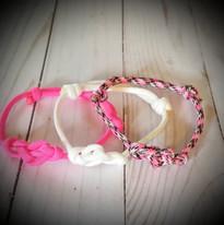 Breast Cancer - Set of 3 Bracelets/Anklets