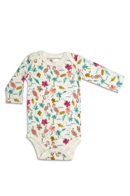 Flamingos Baby Bodysuit
