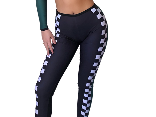 Green Racing Leggings UK10