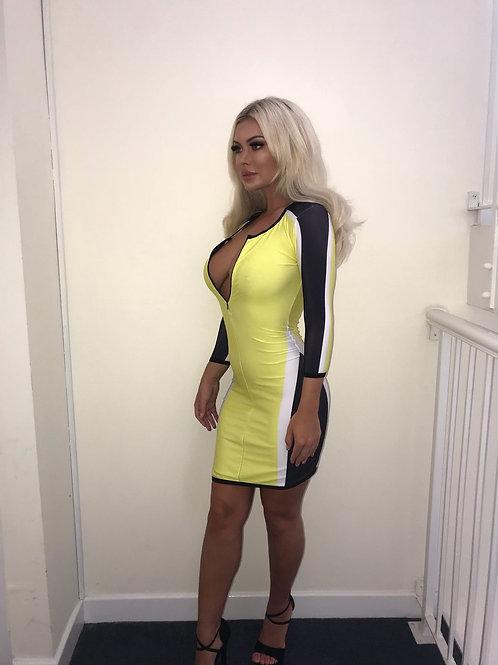 Bella Yellow Racing Dress