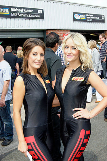 Grid Girl Outfits Sleeveless Catsuit