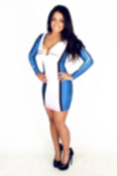 Grid Girl Outfits Zip Dress