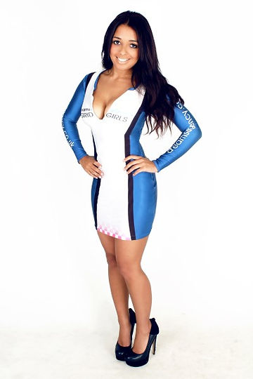 Zip Dress Grid Girl Outfits