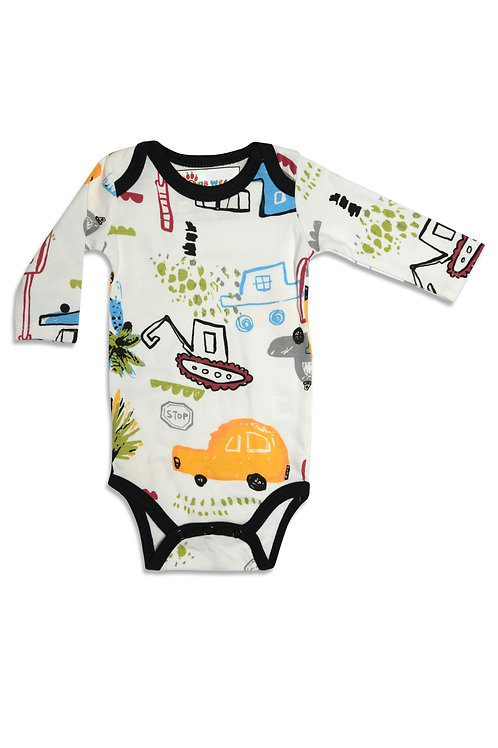 Vehicles Baby Bodysuit