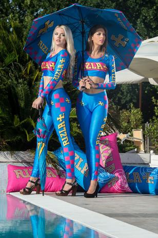 Rizla Grid Girl outfits Cheetah Sportswear