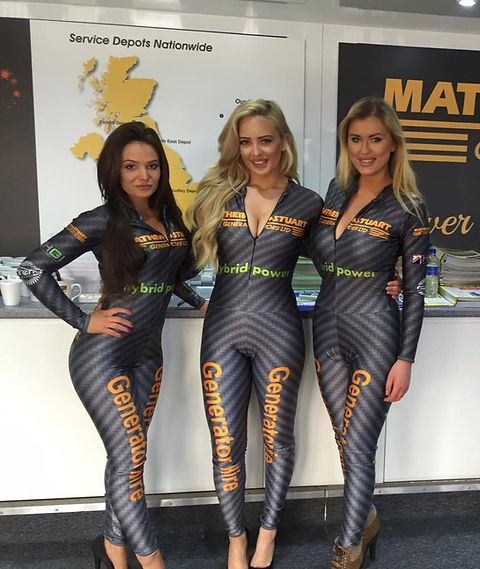 Grid Girl Outfits Catsuits
