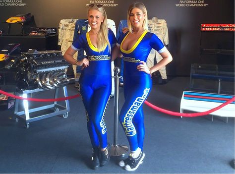 Grid Girl Outfits Low Scoop Necks Catsuit