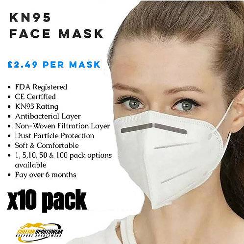 KN95 Face Mask - x10 Pack