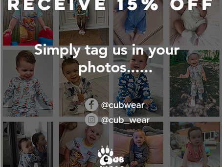 15% off when you tag us