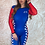 Thumbnail: Grid Girl Catsuit Zip - Blue Racing
