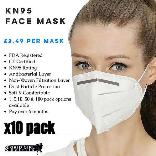 KN95 Face Mask - x10